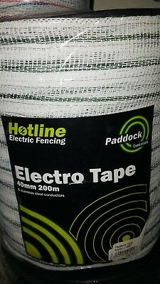 Hotline Paddock Essentials 40mm X 200m Tape electro electric fence