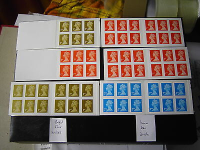 Lot of 15 diverent GB self adhesive stamp booklets. Face 79.82 GBP
