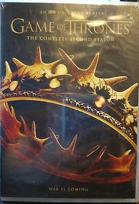 HBO Original TV Series Game of Thrones Complete Season 2 (DVD, 2013, 5-Disc Set)