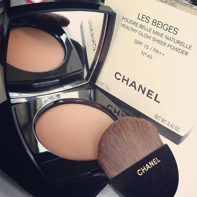 Chanel Les Beiges Healthy Glow Sheer Powder Spf15 No 40 - New