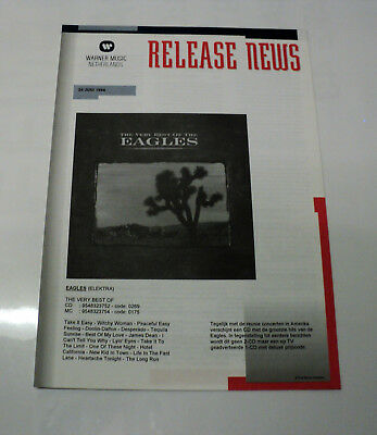 The Eagles Dutch Holland Warner 1994 Promo Release Info Folder The Very Best Of