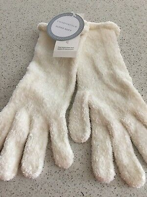 (NWT) Charter Club Women's SOFT Chenille Roll Top Gloves Ivory ONE SIZE