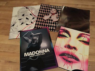 Madonna tour programmes lot of five
