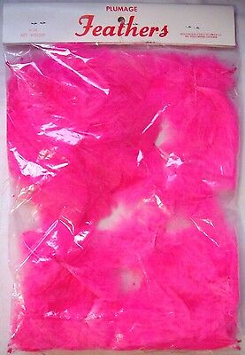 Bag Lot of Pink Hollywood Fancy Feathers for Crafting, Costumes, Floral - 1/4 Oz