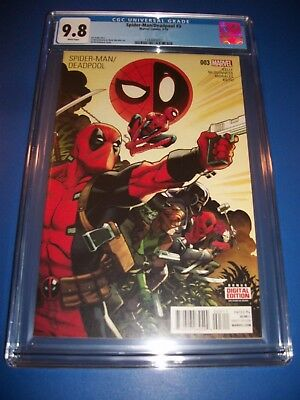 Spider-man Deadpool #3 Investment Grade CGC 9.8 Key 1st Mercs 4 Money Xmen Movie