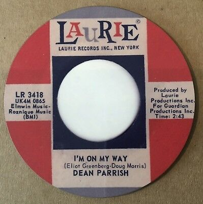 """NEW""  Classic Northern Soul Coaster - Dean Parrish - I'm On My Way"
