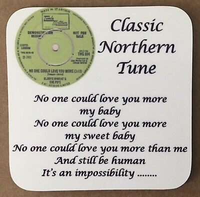 """NEW"" Northern Soul Lyrics Coaster - Gladys Knight - No One Could Love You More"