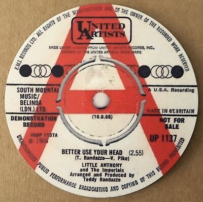 """NEW""  Classic Northern Soul Coaster - Little Anthony - Better Use Your Head"