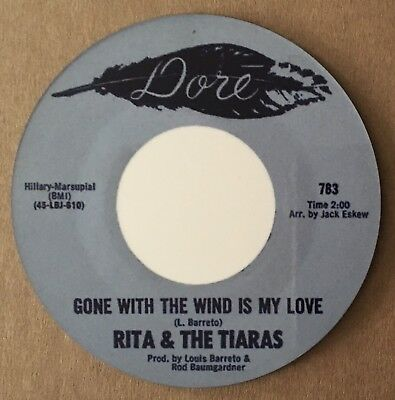 """NEW""  Classic Northern Soul Coaster - Rita & The Tiaras - Gone With The Wind"