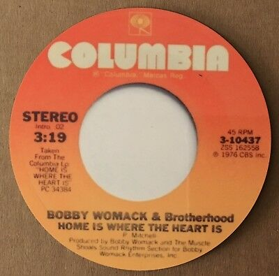 """NEW""  Classic Soul Coaster - Bobby Womack - Home Is Where The Heart Is"