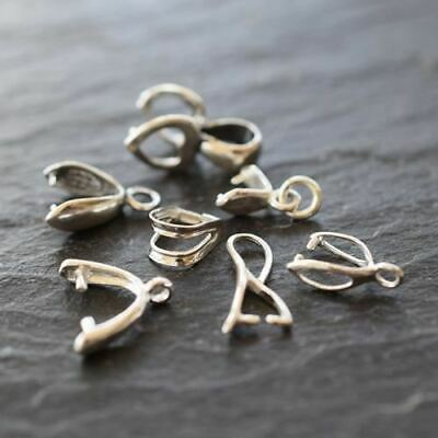 Sterling Silver (925) Jewellery Findings Pendant Bails