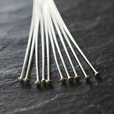 Sterling Silver (925) Jewellery Findings Flat End Headpins