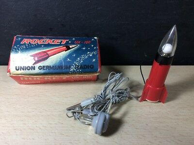Vintage Union Germanium CRYSTAL ROCKET RADIO with Box UX-100 Ear Piece