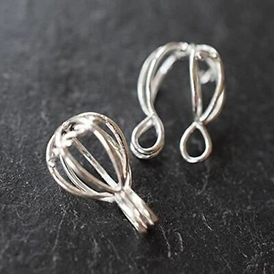 Silver Plated Jewellery Findings Cage Pendants