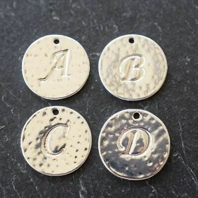 Silver Plated Initial Charms