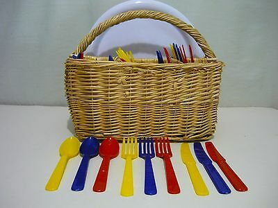 Wicker Utensil Holder Basket