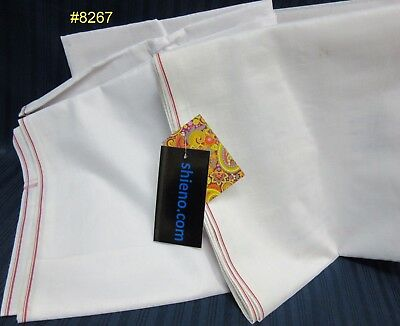 Dhoti 402 Pandit Dhoti White Cotton Men's Lungi Dhoti
