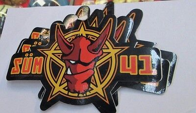 Sum 41 Sticker Collectible Rare Vintage 2000 Metal Live Window Decal
