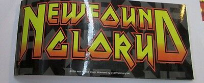 New Found Glory Sticker Collectible Rare Vintage 2001 Metal Live Window Decal