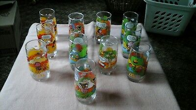 Vintage McDonald's Camp Snoopy Glasses Lot of 12