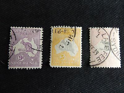Br Commonwealth , Australia - 1931/36 Used Kangaroo Selection,