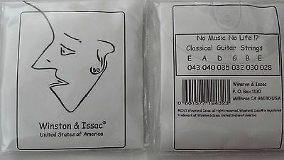 Winston & Issac USA Classical Guitar Strings Full Set Size 043 Brand New