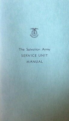 1957 Salvation Army Service Unit Manual Charitable Organization Charity Guide!!!
