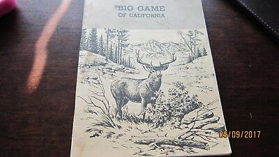 Big Game of California Dept of Fish and Game by Dasmann 1975 Book illustrated