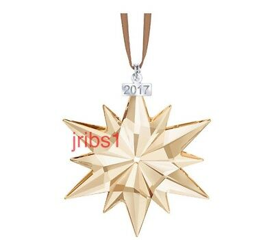 Swarovski 2017 SCS GOLD CHRISTMAS ORNAMENT **NEW** ANNUAL EDITION 5268827 X-MAS