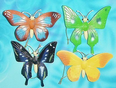 Set of Four ~ Colorful Butterflies Butterfly Series 1 Small Christmas Ornaments