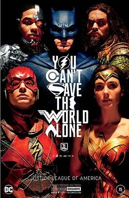 Justice League Of America 15 Nycc Silver Foil Movie Variant 2017