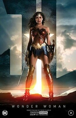Wonder Woman 31 Nycc Silver Foil Justice League Movie Variant 2017