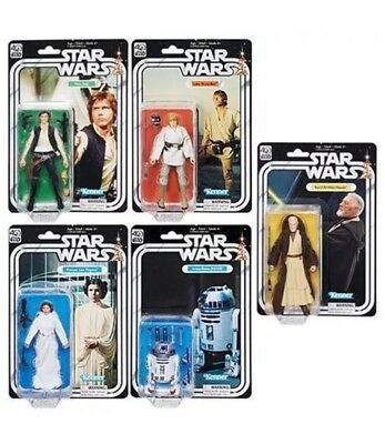 Hasbro Star Wars 40th Anniversary Black Series Set Of 5 Kenner Action Figures