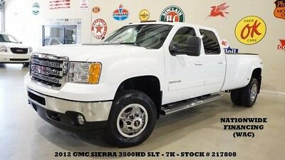 2012 GMC Sierra 3500 12 SIERRA 3500HD SLT DRW 4X4,NAV,BACK-UP,REAR DVD, 12 SIERRA 3500HD SLT DRW 4X4,NAV,BACK-UP,REAR DVD,HTD/COOL LTH,7K,WE FINANCE!!