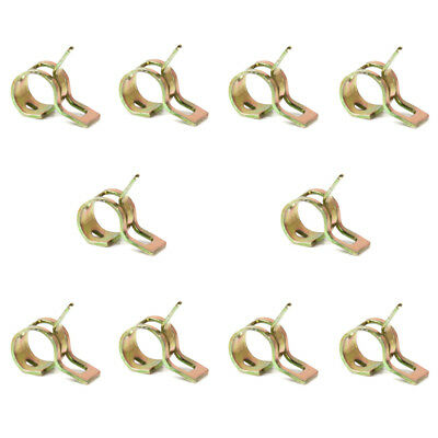 10Pcs 6mm Spring Clip Tube Clamp Fastener for Fuel Gas Hose Line