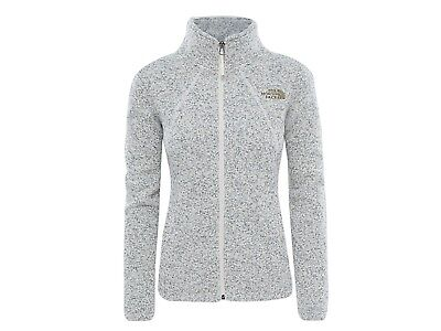 Giacca Pile Zip Intera Donna The North Face Inverno 2Uan0Zx  Crescent Full White