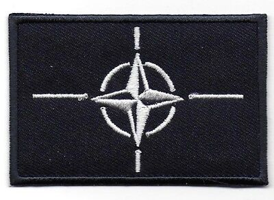 NATO - North Atlantic Treaty Organisation Flag Embroidered Patch Sew or Iron on