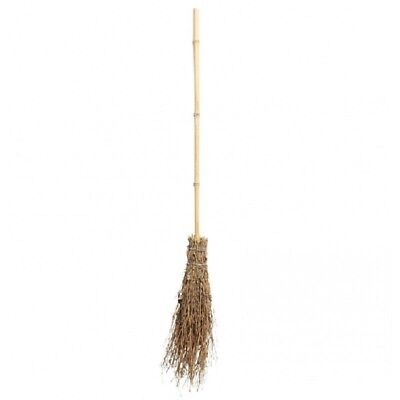 """43.5"""" Witches Broom Bamboo Wood Costume Accessory Prop Decoration Child Adult"""