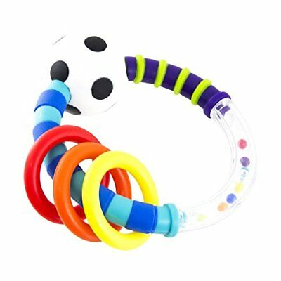 Sassy Rattlin Rings Blue/Black Rattles Toys for Baby Toy