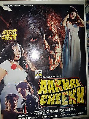 Sri pradha horror Collection Bollywood press book Ramsay movie Aakhri cheekh