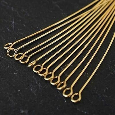 Gold Plated Jewellery Findings Eyepins