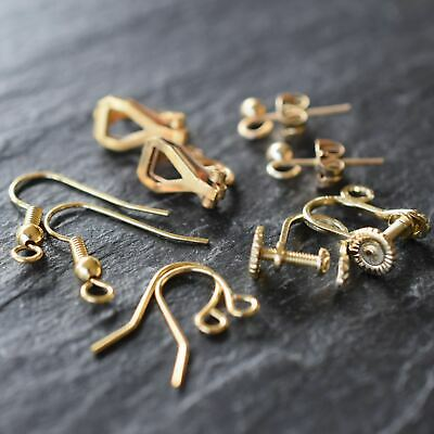 Gold Plated Jewellery Findings Earwires