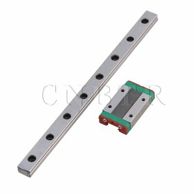 20cm MGN12 Bearing Steel Linear Sliding Guide Rail Extension Block Set