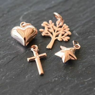 Rose Gold Plated Jewellery Findings Charms