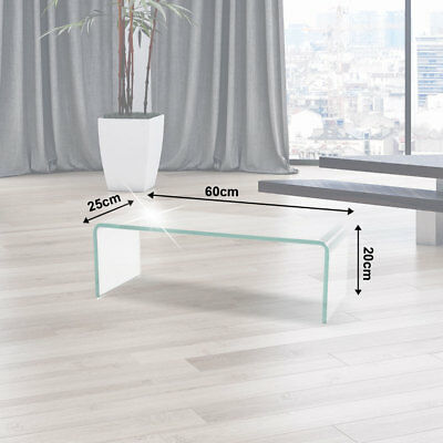 TV Cabinet Glass Top Monitor Elevator Table 60cm Shelf under-cupboard