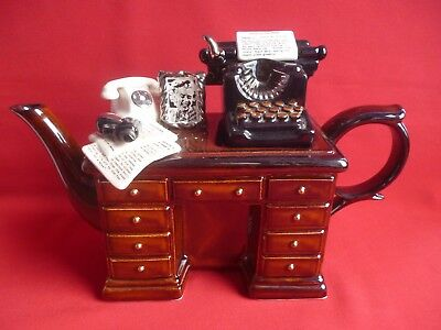 Paul Cardew Full Size Crime Writers Desk Collectors Teapot. 04 94    R/ 223.