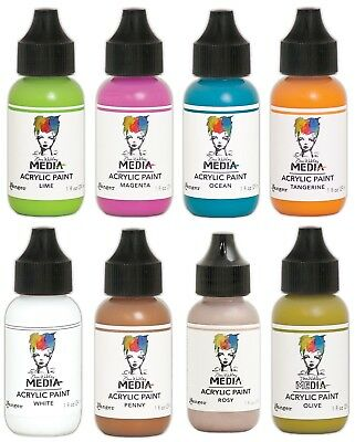 Dina Wakley Media Acrylic Paint Choose Your 31 Colours