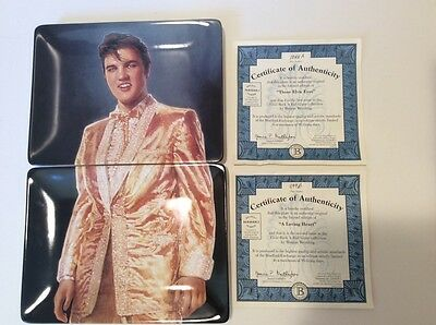 Elvis Presley: Rock 'n Roll Collectable Plates With Coa/boxes