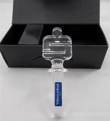 CRYSTAL BOTTLE DECANTER STOPPER By VILLEROY & BOCH Sparkassen Sonderartikel GIFT