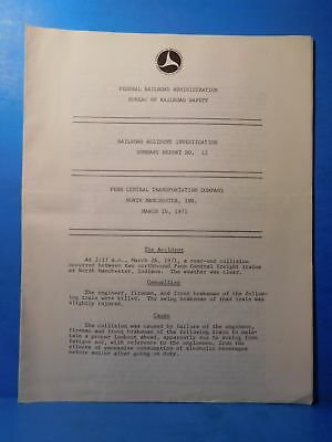 Railroad Accident Investigation Report #12 Penn Central Transportation Co 1971